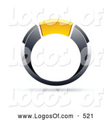 Logo Vector of a Silver and Chrome and Yellow Ring by Beboy