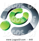 Logo Vector of a Silver and Green Copyright Symbol, Above Space for a Business Name and Company Slogan by Beboy