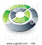 July 7th, 2013: Logo Vector of a Silver and Green Target or Circles Above Space for a Business Name and Company Slogan by Beboy