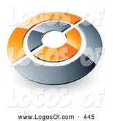 Logo Vector of a Silver and Orange Target or Circles Above Space for a Business Name and Company Slogan by Beboy