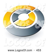 Logo Vector of a Silver and Yellow Target or Circles Above Space for a Business Name and Company Slogan by Beboy