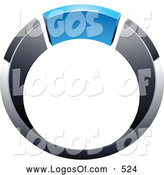 Logo Vector of a Silver or Chrome and Blue Ring by Beboy