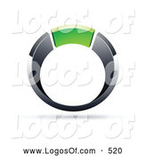 Logo Vector of a Silver or Chrome and Green Ring by Beboy