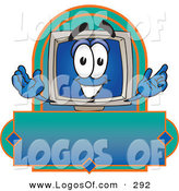 Logo Vector of a Smiling Happy Desktop Computer Mascot Cartoon Character on a Blank LabelSmiling Happy Desktop Computer Mascot Cartoon Character on a Blank Label by Toons4Biz
