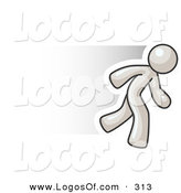 January 31st, 2013: Logo Vector of a Speedy White Business Man Running Fast on White by Leo Blanchette