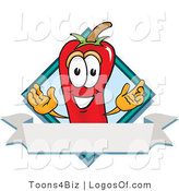 Logo Vector of a Spicy Chili Pepper and Banner by Toons4Biz
