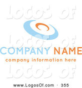 Logo Vector of a Stock Logo of an Orange and Blue Disc Above Space for a Company Name and Information over White by KJ Pargeter