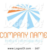 Logo Vector of a Stock Logo of Blue and Orange Lines Resembling an Umbrella, over Space for a Company Name and Information on a White Background by KJ Pargeter