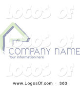 Logo Vector of a Stock Logo of Green Lines Resembling a Home or Roof, Above Space for a Company Name and Information on a White Background by KJ Pargeter