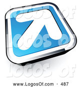 September 1st, 2013: Logo Vector of a White Arrow on a Blue and Silver Button by Beboy