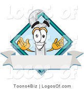 Logo Vector of a Wrench Logo and Copyspace by Toons4Biz