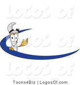 Logo Vector of a Wrench Logo and Dash by Toons4Biz