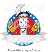 Logo Vector of a Wrench Logo with American Stars by Toons4Biz