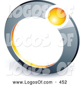 Logo Vector of a Yellow Ball Set in a Chrome Ring, Above Space for a Business Name and Company Slogan by Beboy