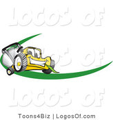 July 29th, 2012: Logo Vector of a Yellow Lawn Mower Dash by Toons4Biz