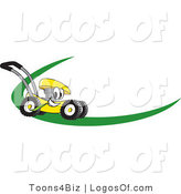 July 28th, 2012: Logo Vector of a Yellow Lawn Mower Dash by Toons4Biz