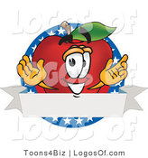 Logo Vector of an American Red Apple Produce by Toons4Biz