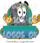 Logo Vector of an Automotive Rubber Tire Logo with Copyspace by Toons4Biz