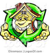 Logo Vector of an Energy Efficient Home and Recycle Arrows by Chromaco