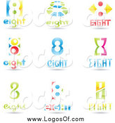 June 16th, 2014: Vector Clipart of 3d Number Eight Design Logos by Cidepix