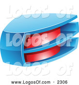 Vector Clipart of a 3d Red and Blue Logo by Cidepix