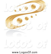 Vector Clipart of a Abstract Golden Swirl and Orbs Logo by Alexia Lougiaki