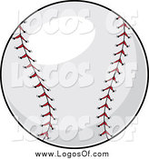 Vector Clipart of a Baseball Logo by Pams Clipart