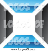 Vector Clipart of a Blue and Black Wall Logo by Cidepix