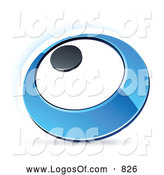Vector Clipart of a Blue Ring or Dial Logo by Beboy