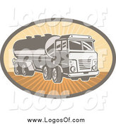 Vector Clipart of a Cement Truck Logo by Patrimonio
