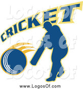 Vector Clipart of a Cricket Logo by Patrimonio