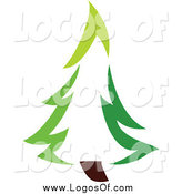 Vector Clipart of a Green Evergreen Tree Logo by Elena