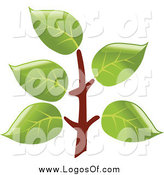 Vector Clipart of a Tree Branch Logo by Vector Tradition SM