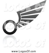Vector Clipart of a Wing Logo by Elena