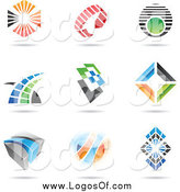 Vector Clipart of Abstract Logos by Cidepix