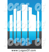 Vector Clipart of an Urban Skyscraper Logo 3 by Elena