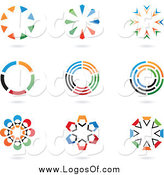 Vector Clipart of Colorful Circular Logos by Cidepix