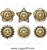 Vector Clipart of Gold and Black Badge Logos by Vector Tradition SM