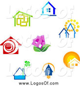 Vector Clipart of Home Logos by Vector Tradition SM