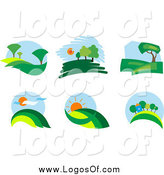 Vector Clipart of Landscape Logos by Vector Tradition SM