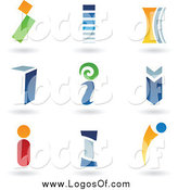 Vector Clipart of Letter I Logos by Cidepix
