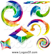 May 29th, 2014: Vector Clipart of Rainbow Logo Designs by Dero