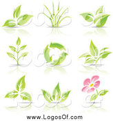 Vector Clipart of Recycle and Plant Logos by Cidepix