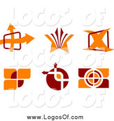 Vector Clipart of Red and Orange Logos by Vector Tradition SM
