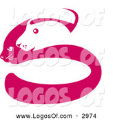 Vector of a Pink and White Dog and Cat Face S Logo by Patrimonio