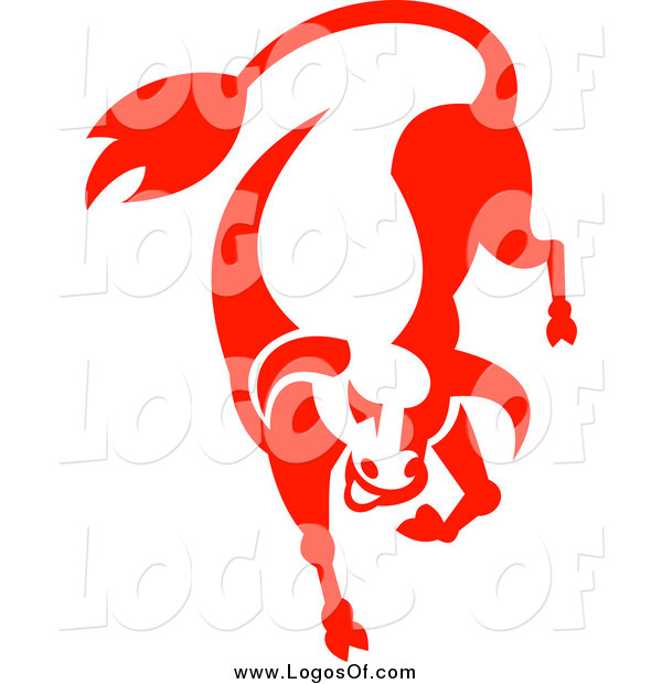 Clipart of a Red Angry Bull Logo