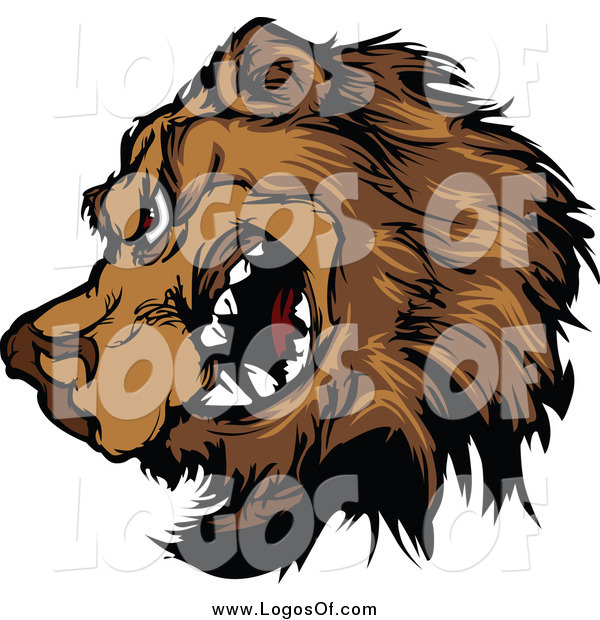 Clipart of a Tough Brown Bear Snarling Logo