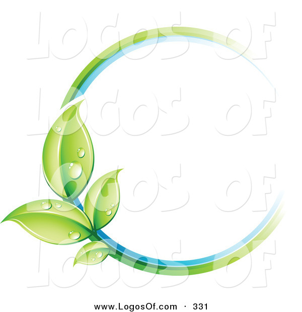 Logo Vector of a Pre-Made Logo of a Circle of Colors and Leaves Next to a Space for a Business Name and Company Slogan