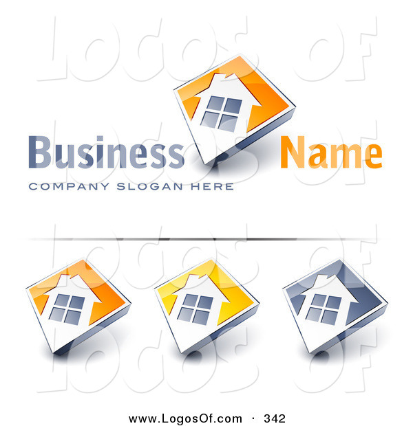 Logo Vector of a Pre-Made Logo of a Large Window on a Home with a White Background and Space for a Business Name and Company Slogan
