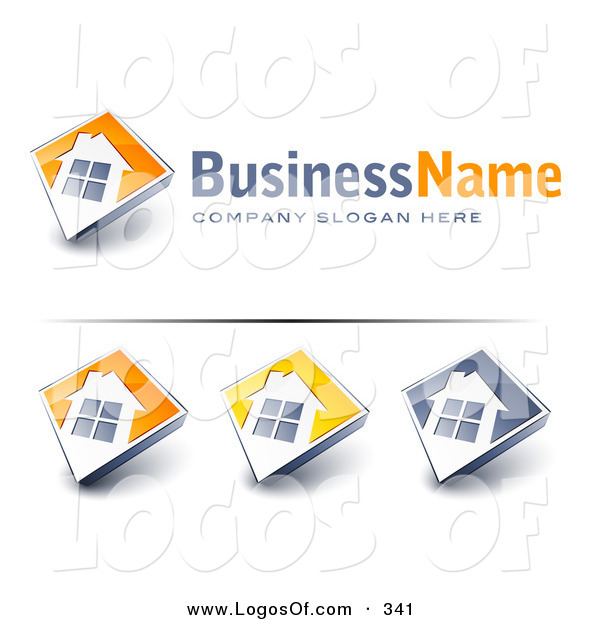 Logo Vector of a Pre-Made Logo of a Large Window on a Home with Space for a Business Name and Company Slogan over White